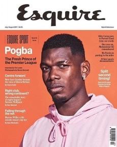 Paul Pogba recently shot by @simonemmett for @ukesquire.  Grooming by @lourothwellmakeup . @paulpogba  @manchesterunited  @morgandelaporte  @lourothwellmakeup  @representedby.me  @fivefourstudios