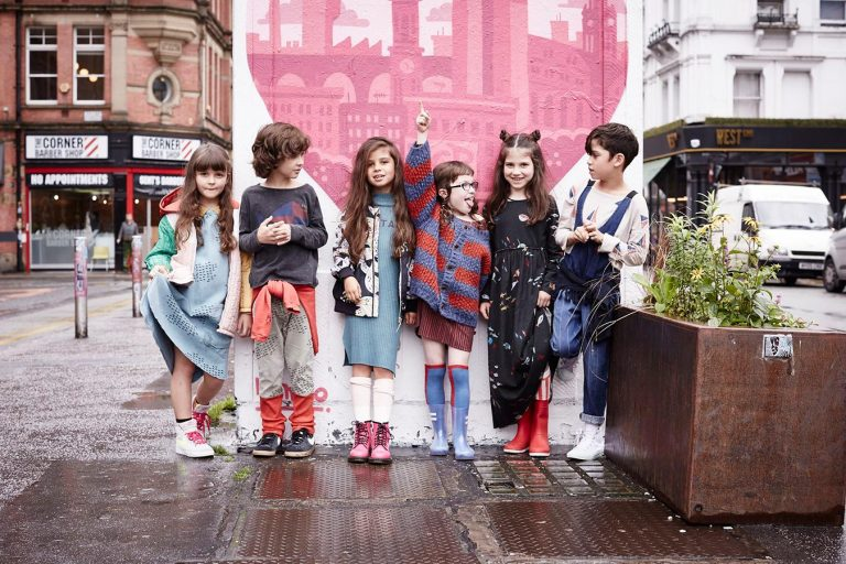 Kids fashion styling editorial